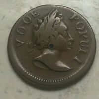 1760 Colonial Copper Voce Populi Hibernia - Great Details