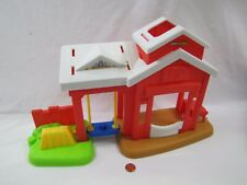 New! Fisher Price Little People HORSE STABLE FARM w/ SWING for FARMER HORSES