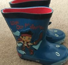 Brand New Jake Never land Pirate Wellies Shark Blue Size Infant 5
