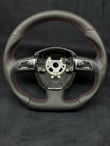 AUDI A4 A6 A8 Q7 B7 C6 B8 S Line Steering Wheel Flat Bottom Shapped Sport S-Line