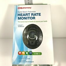 CVS Digit Watch Podometer Heart Rate Monitor S-Pulse Technology 4 In 1 Medium