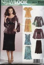 New Look 6546 Sewing Pattern Flutter Sleeve Pullover Tops & Skirt Sizes 6-16 UC