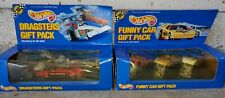Hot Wheels 1990 Dragster & Funny Cars Racing Gift Packs New In Package - Vintage