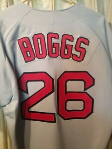 MLB NWOT VTG WADE BOGGS BOSTON RED SOX RAWLINGS JERSEY (sz44)  ⚾️⚾ gray