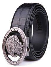Mens Ratchet Belt Bonded Leather Belts For Men With Adjustable Buckle