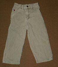 Baby Boys TOMMY HILFIGER Beige Khaki Corduroy PANTS Size 3T Flat Front