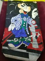 MICKIE MOUSE MEN'S TIE DISNEY MICKEY UNLIMITED STEAMBOAT WILLIE RETRO FASHION