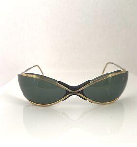 Vintage Renauld Sunglasses Bikini Gold with Green Lenses Sun Glasses