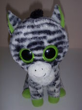 "TY BEANIE BOOS, ZEBRA ZIG-ZAG 9"" PLUSH STUFFED ANIMAL, NO TAG, USED!"