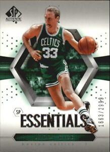 2004-05 SP Authentic  Boston Celtics Basketball Card #92 Larry Bird ESS /2999