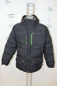SALOMON Mens Down RECCO Hooded Pit Zips Ski Snow Puffer Jacket sz Large