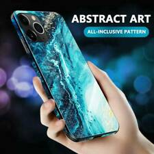 For iPhone 12 11 Pro Max/Xs/Xr 8 7 Plus Tempered Glass Phone Case Cover TPU Hard