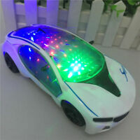 3D LED Flashing Light Car Toys Electric Music Sound Cars Children Xmas Toy Gift