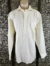 Turtleson Mens Long Sleeve Pullover 4 Button Shirt Size Xxl 2Xl Cream White