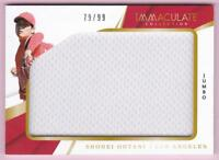 SHOHEI OHTANI RC 2018 IMMACULATE COLLECTION JUMBO JERSEY #79/99 ROOKIE