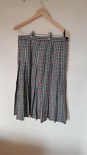 Ladies Long Pleated Check Skirt size 16 ~cx564