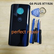 Original Glass Battery Back Cover Door Panel Motorola Moto G6 Plus XT1926  BLUE