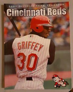 2001 Cincinnati Reds Team Yearbook Ken Griffey Jr. No Label Mint!
