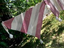 Set 2 Matching Nicole Miller Home Pink White Acrylic Soft Tassel Blanket Throw
