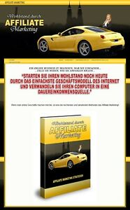 Wohlstand durch Affiliate Marketing - eBook, Verkaufsseite + PLR-LIZENZ