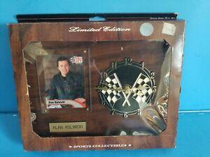 "Vintage Sports Plaque ""ALAN KULWICKI"" Clock & Trading Card & Name Plate"