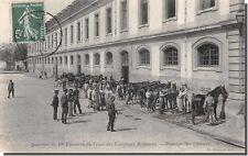 CPA 75 - PARIS - Quartier du 19 e Escadrons du train des equipages Militaires