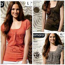 Markenlose locker sitzende Damenblusen, - tops & -shirts ohne Kragen