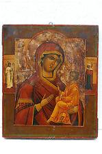 "Antique19c RUSSIAN ORTHODOX ICON ""Mother of God Tikhvinskaya"""
