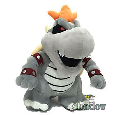 "Super Mario Bros. 3D World 10"" Dry Bowser Bones Koopa Plush Toy Soft Doll"