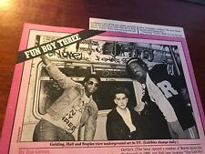 1982 Vintage 1 1/2 Page Print Article On The Band Fun Boy Three The Specials