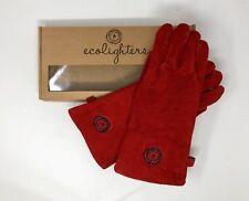 Ecolighters - Leather Gloves Woodburner Stove Gloves Log Heat Resistant Red