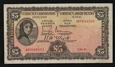 IRELAND  1939  £5  LADY  LAVERY   BANKNOTE