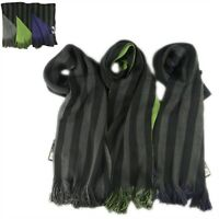 Men's Reversible Stripe Scarf 3 Colours, Soft Woven Fashion Scarves, Winter Gift