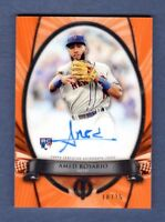 AMED ROSARIO 2018 TOPPS TRIBUTE ORANGE AUTOGRAPH ON CARD AUTO ROOKIE # / 25 METS