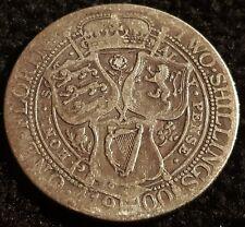 1900 Queen Victoria Jubilee Head .925 VF Silver Florin Coin Lot F2