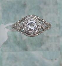 XIA Kunzite & Natural Zircon RING (size 7) Platinum/Silver TGW 0.84 cts