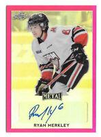 2016-17 Ryan Merkley Leaf Metal Rooke Auto Pink 4/10 - San Jose Sharks