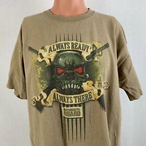 Chase Authentics Dale Earnhardt Jr Always Ready T Shirt Nascar 2008 Brown XL