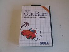 Out Run (Sega Master System, 1987). Complete in Box. Excellent Shape.