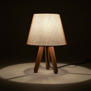 Wooden Tripod Table Lamp Home Decoration