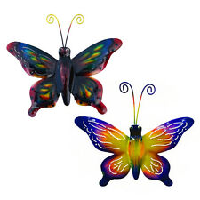 Fair Trade Metal Butterfly Wall Art Set of 2