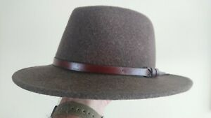 Mens Fedora hat - Curzon Classics Kent Wool Fedora (Brown) L 59, new other