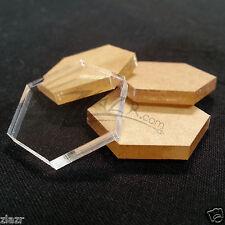 "50 1""x1/8"" Hexagon Wafer Clear Acrylic Disc Plastic Plexiglass Geometric Craft"