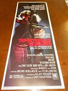 THE OSTERMAN WEEKEND (1983) BURT LANCASTER ORIGINAL INSERT POSTER NICE!