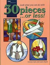 30 Pieces or Less Stained Glass Pattern Book, Penguins Leaves Shells Fushia more