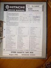 Manual de servicio para Hitachi d-e2 Unidad de cinta original