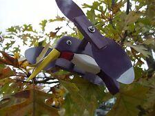Purple Hummingbird Mini Whirligigs Whirligig Windmill Yard Art Hand from wood