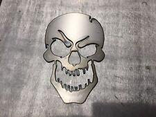 Skull Metal Evil Mean Wall Art Decor Man Cave Comic Book harley