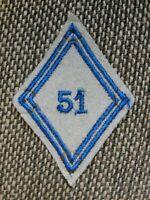 Losange de bras 51e GRM Groupement de Réparation du Matériel modèle 1945