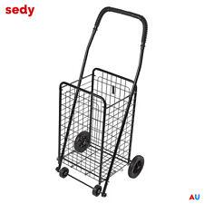 NEW Shopping Cart Steel Carts Trolley Bag Foldable Luggage Wheels Folding Basket